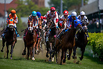 MAY 2, 2015: The field passes the grandstands for the first time during the 24th running of The American Turf at Churchill Downs in Louisville, Kentucky. Jon Durr/ESW/CSM