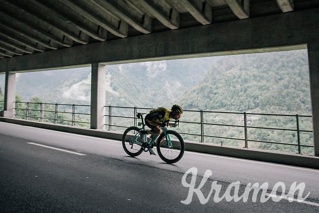 Bram Tankink (NED/LottoNL-Jumbo) descending <br /> <br /> Stage 5: Gstaad > Leukerbad (155km)<br /> 82nd Tour de Suisse 2018 (2.UWT)