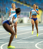 2nd May 2021; Silesian Stadium, Chorzow, Poland; World Athletics Relays 2021. Day 2; Laviai Nielsen of Great Britain on the home straight before handing the baton to Ami Pipi in the ladies 4 x 400