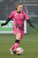 Chrystal Lermusiaux (2) of Sporting Charleroi  pictured during a female soccer game between SV Zulte - Waregem and Sporting Charleroi on the eleventh matchday of the 2020 - 2021 season of Belgian Scooore Womens Super League , saturday 23 th of January 2021  in Zulte , Belgium . PHOTO SPORTPIX.BE | SPP | DIRK VUYLSTEKE