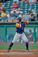 Beau Taylor (6) of the Las Vegas Aviators at bat against the Salt Lake Bees at Smith's Ballpark on July 20, 2019 in Salt Lake City, Utah. The Aviators defeated the Bees 8-5. (Stephen Smith/Four Seam Images)