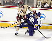 Brendan Silk (BC - 9), Nathaniel Domagala (HC - 7) - The visiting College of the Holy Cross Crusaders defeated the Boston College Eagles 5-4 on Friday, November 29, 2013, at Kelley Rink in Conte Forum in Chestnut Hill, Massachusetts.