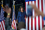 First Lady Michelle Obama stumps at LaSalle University in Philadelphia, PA., in support of Presidential democratic nominee Hillary Clinton and running mate Tim Kaine, on sept. 28, 2016.