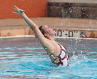 Stanford, CA; Saturday February 11, 2012: Synchronized Swimming, Stanford vs Incarnate Word.<br /> Stanford Solo: Madison Crocker.