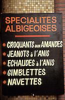 Europe/France/Midi-Pyrénées/81/Tarn/ Albi: Enseignes spécialités patissières d'Albi- Gâteaux traditionnels