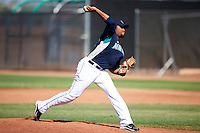 Seattle Mariners minor league pitcher Oliver Garcia #60 during an instructional league game against the Kansas City Royals at the Peoria Sports Complex on October 2, 2012 in Peoria, Arizona.  (Mike Janes/Four Seam Images)