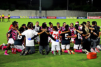 BARRANQUILLA - COLOMBIA, 24-11-2020: Atletico Junior y el Independiente Santa Fe, durante partido de los Cuartos de Final Ida de la Liga Femenina BetPlay DIMAYOR 2020 jugado en el estadio Romelio Martinez en la ciudad de Barranquilla. / Atletico Junior and Independiente Santa Fe, during a match of the Quarterfinals Ida of the Women's League BetPlay DIMAYOR 2020 played at the Romelio Martinez stadium in Barranquilla city. / Photo: VizzorImage / Jairo Cassiani / Cont.