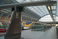 The Eurostar boarding area in St Pancras station in London, England, UK.