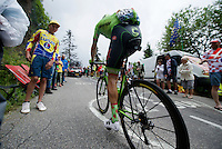 Dylan van Baarle (NLD/Cannondale-Drapac) up the Montée de Bisanne (HC/1723m/12.4km/8.2%)<br /> <br /> Stage 19:  Albertville › Saint-Gervais /Mont Blanc (146km)<br /> 103rd Tour de France 2016
