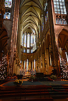 Inside Cologne Cathedral in Germany