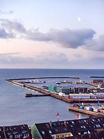 Blick auf Binnen- und Südhafen, Insel Helgoland, Schleswig-Holstein, Deutschland, Europa<br /> inland port and south port, Helgoland island, district Pinneberg, Schleswig-Holstein, Germany, Europe