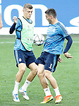 Real Madrid's Toni Kroos and Mateo Kovacic during Champions League 2015/2016 training session. May 27,2016. (ALTERPHOTOS/Acero)