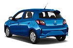 Car pictures of rear three quarter view of 2020 Mitsubishi Space-Star IN 5 Door Hatchback Angular Rear