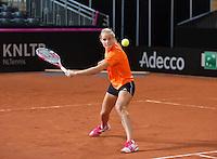 Februari 04, 2015, Apeldoorn, Omnisport, Fed Cup, Netherlands-Slovakia, Training Dutch team, Arantxa Rus <br /> Photo: Tennisimages/Henk Koster