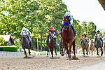 Charlatan (1) with jockey Martin Garcia aboard during the 1st division of the Arkansas Derby at Oaklawn Racing Casino Resort in Hot Springs, Arkansas on May 2, 2020. Ted McClenning/Eclipse Sportswire/CSM