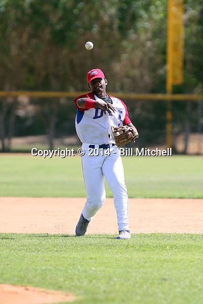 Gabirel Corporan participates in the Dominican Prospect League 2014 Louisville Slugger Tournament at the New York Yankees academy in Boca Chica, Dominican Republic on January 20-21, 2014 (Bill Mitchell)
