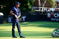 3rd July 2021, Detroit, MI, USA;  Phil Mickelson hits his second shot on the 8th hole on July 3, 2021 during the Rocket Mortgage Classic at the Detroit Golf Club in Detroit, Michigan.