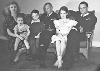 Washington, DC - (FILE) -- Family portrait from the office of United States Senator John McCain (Republican of Arizona), the presumptive 2008 Republican nominee for President of the United States, circa 1944.  From left to right: Roberta (John's Mother) Joe, John S. McCain III, Admiral John S. McCain, Sandy, John S. McCain, Jr..<br /> CAP/MPI/RS<br /> ©RS/MPI/Capital Pictures