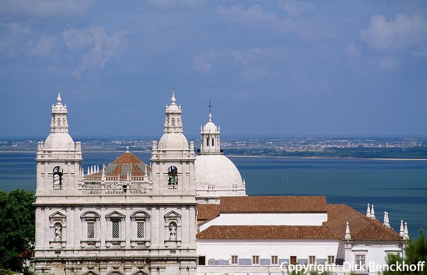 Portugal, Kirchen Engracia und Sao Vicente in Lissabon