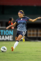 Sydney Leroux (2) of the USWNT during pre-game warmups. The USWNT defeated Mexico 7-0 during an international friendly, at RFK Stadium, Tuesday September 3 , 2013.