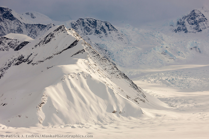 Ruth glacier, Alaska Range, interior.