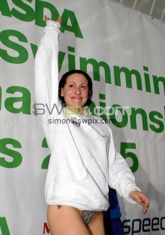 Pix: Chris Whiteoak/SWpix.com. Swimming, British Swimming World Championships 2005, Manchester. 17/03/2005...COPYRIGHT PICTURE>>SIMON WILKINSON>>01943 608782>>..Sarah Price retires at the world Championships