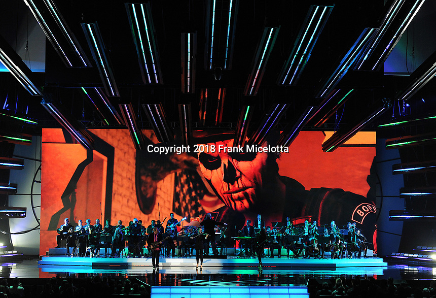 LOS ANGELES - DECEMBER 6: The Game Awards Orchestra performs on the 2018 Game Awards at the Microsoft Theater on December 6, 2018 in Los Angeles, California. (Photo by Frank Micelotta/PictureGroup)