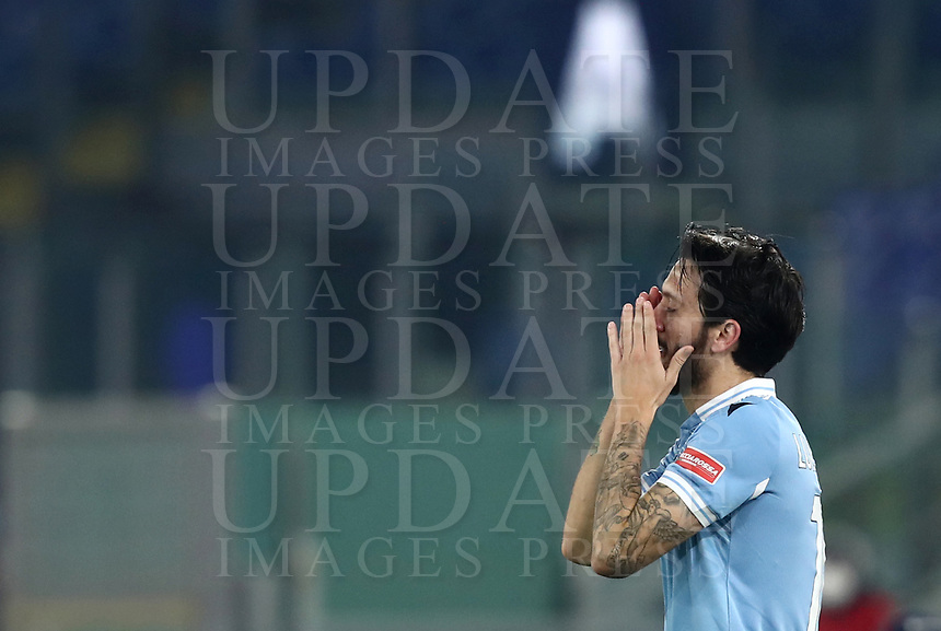Calcio, Serie A: S.S.Lazio - Napoli, Olympic stadium, Rome, December 20, 2020. <br /> Lazio's Luis Alberto celebrates after scoring during the Italian Serie A football match between Lazio and Napoli at the Olympic stadium, on December 20, 2020.<br /> UPDATE IMAGES PRESS/Isabella Bonotto