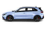 Car Driver side profile view of a 2021 Hyundai i30 N-Performance 5 Door Hatchback Side View