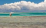 Bone fishing in the lagoon in Kiritimati, Kiribati