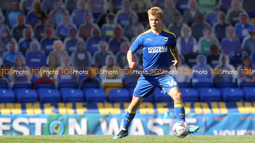 Jaakko Oksanen of AFC Wimbledon, currently on loan from Brentford during AFC Wimbledon vs Fleetwood Town, Sky Bet EFL League 1 Football at Plough Lane on 5th April 2021