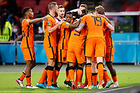 AMSTERDAM, 13-06-2021 Johan Cruyff Arena, Group stage of EURO2020 between Netherlands and Ukraine. Netherlands celebrating the 3-2 of Netherlands player Denzel Dumfries<br /> Photo Pro Shots / Insidefoto <br /> ITALY ONLY