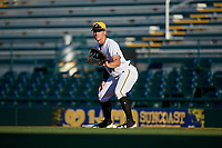 Bradenton Marauders first baseman Lucas Tancas (29) during a game against the Tampa Tarpons on April 25, 2018 at LECOM Park in Bradenton, Florida.  Tampa defeated Bradenton 7-3.  (Mike Janes/Four Seam Images)