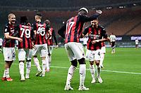 Rafael Leao of AC Milan celebrates after scoring a goal during the Serie A football match between AC Milan and Spezia Calcio at San Siro Stadium in Milano  (Italy), October 4th, 2020. Photo Image Sport / Insidefoto