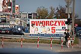 Ein Wahlplakat zur Familienpolitik in Warschau. / An election poster on family politics in Warsaw