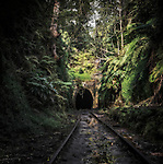The disused railway tunnel and tracks at Helensburgh south of Sydney in Australia.