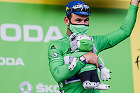 green jersey Mark Cavendish (GBR/Deceuninck-Quick Step) on podium <br /> <br /> Stage 4 from Tours to Chateauroux (160.6km)<br /> 108th Tour de France 2021 (2.UWT)<br /> <br /> ©kramon