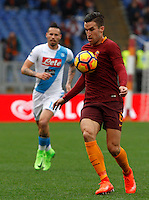 Roma's Kevin Strootman in action during the Italian Serie A football match between Roma and Napoli at Rome's Olympic stadium, 4 March 2017. <br /> UPDATE IMAGES PRESS/Riccardo De Luca