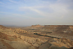 Israel, Northern Negev Mountain. A view of Zin valley from Sde Boker