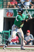 Dayton Dragons shortstop Juan Perez #11 during a Midwest League game against the Fort Wayne TinCaps at Parkview Field on August 19, 2012 in Fort Wayne, Indiana.  Dayton defeated Fort Wayne 5-1.  (Mike Janes/Four Seam Images)
