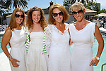 Lindsay Holstead, Julie Smith, Terry Smith and Courtney Lanier-Sarofim at the River Oaks Tennis Luncheon Wednesday April 08,2009.(Dave Rossman/For the Chronicle)