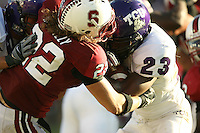 13 October 2007: Bo McNally during Stanford's 38-36 loss to TCU at Stanford Stadium in Stanford, CA.