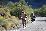 Half marathon runners compete in the 8th annual Take it to the Lake race at Cave Lake State Park, near Ely, Nev., on Saturday, Sept. 21, 2019.<br /> Photo by Cathleen Allison/Nevada Momentum