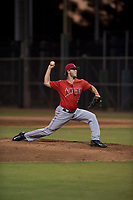 AZL Angels relief pitcher Chase Adkins (97) delivers a pitch during an Arizona League game against the AZL Giants Black at the San Francisco Giants Training Complex on July 1, 2018 in Scottsdale, Arizona. The AZL Giants Black defeated the AZL Angels by a score of 4-2. (Zachary Lucy/Four Seam Images)