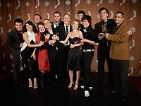 Montreal (Qc) CANADA - Sept 14, 2008 - <br /> <br /> Pierre Verville,Laurence Leboeuf ,  LES LAVIGUEUR<br />  , LA VRAI HISTOIRE,<br /> <br /> 2008 Gemeaux Gala rewarding French-Canadian television.