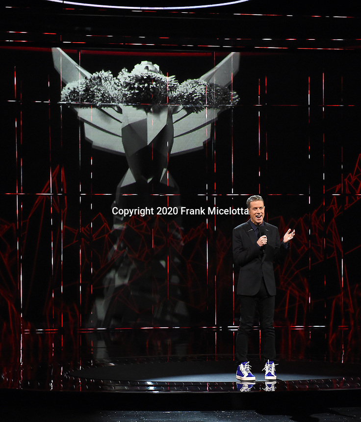 """HOLLYWOOD, CA - DECEMBER 10: Geoff Keighley hosts """"The Game Awards 2020"""" in Hollywood, California on December 10, 2020. (Photo by Frank Micelotta/PictureGroup)"""