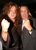 FORT LAUDERDALE FL - MAY 08: Nicko McBrain and Yngwie Malmsteen attend the Brazilian children's charity event held at the Fort Lauderdale Marriott on May 8, 2002 in Fort Lauderdale, Florida. : Credit Larry Marano © 2002