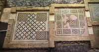Roman mosaics - Rooms of an excavated villa from Ancient Zeugama, 2nd - 3rd century AD . Zeugma Mosaic Museum, Gaziantep, Turkey.