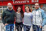 The Linnane family outside their bar on Rock Street on Saturday.<br /> L to r: Conor, Grainne, Abina and Daniel Linnane.