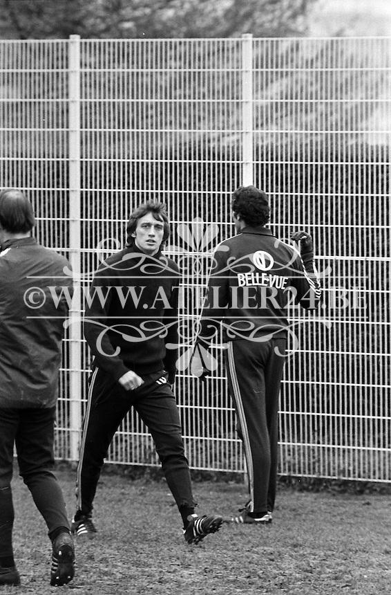 1977. RSC Anderlecht. Rob Rensenbrink en Jan Ruiter.